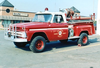 Former Brush 15 was a nice 1966 Chevy/Maryland Fire Equipment, 250/195, Shop #4619.