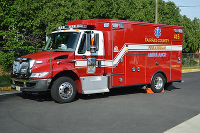 Chantilly's M415 is this 2012 International 4300/Braun, County #6691.  One of just two Braun ambulance's delivered to Fairfax County.