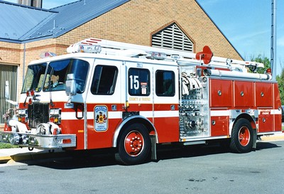 Former Engine 15, a 1994 E-One Protector, 1250/500, 54', sn- 13644, Shop #7310.