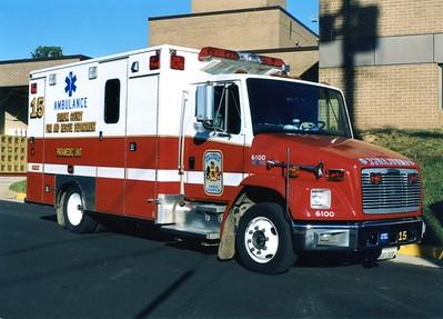 Former Medic 415, a 1998 Freightliner 60/Medic Master, Shop #6100.