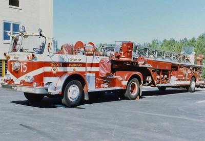 Former Truck 15 was a nice 1966 Seagrave 100', 250/150, Shop #4579.