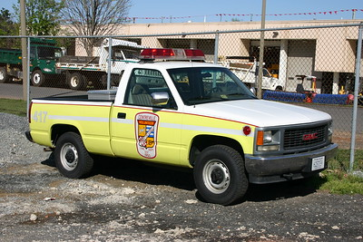Former Utility 417, a 2002 GMC pick-up.