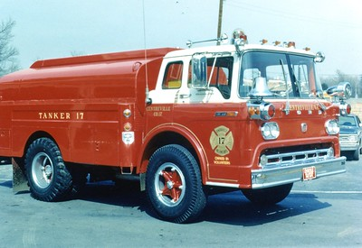 Former Tanker 17, a 1969 Ford C/local, 250/1500, Shop #V97.  Sold to construction company in Florida in approximately 1979.