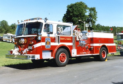Former Engine 30, a 1980 Seagrave HB, 1000/500, Shop #7053.
