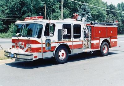 Former Engine 30, a 1987 E-One Hurricane, 1250/500, Shop #7024.