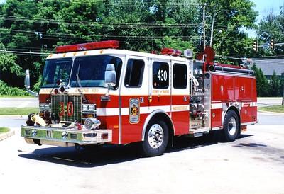 Former Engine 430, a 1998 E-One Cyclone II, 1250/750, sn- 18275, Shop #7007.