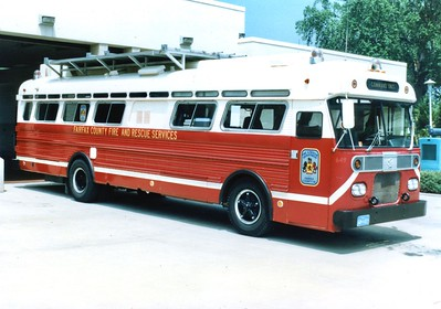 Fairfax's former Command Bus, a 1967 International/Superior, Shop #649.  Photographed at Station 30 (Merrifield).
