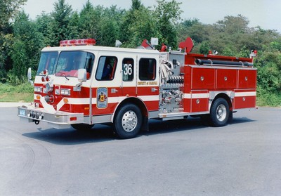 Former Engine 36, a 1989 E-One Hush, 1250/500, Shop #7216.