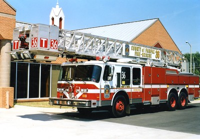 Former Tower 436, a 1988 E-One Hurricane, 95', sn- 6325, Shop #7079.  ex - Tower 1 (McLean).