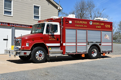 Light/Air 10 from Rapidan, VA in Culpeper County is this 2002 FL70/Pierce with job number 13136.  Originally delivered to Fairfax County, Virginia as their Light/Air 438 in West Centreville (and later re-assigned to Light/Air 436), Rapidan received this in late 2016/early 2017
