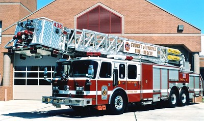 Former Tower 436, a 2001 E-One Hurricane, 95', sn- 124490, Shop #7532.  ex - Tower 408 (Annandale).