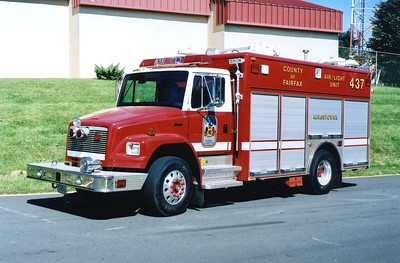 Former Light and Air 437, a 2001 Freightliner 70/Pierce, sn- 11924-02, Shop #8771.  Sold to Rouss Fire Company (Winchester, Virginia) in 2016.