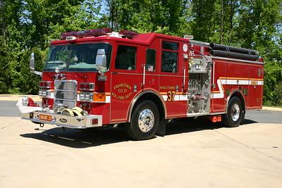 Engine 437, a 2002 Pierce Enforcer, 1500/750.