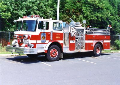 Former Pumper 7, a 1973 Imperial/E-One/1982 Imperial, 1000/500, Shop #4304.