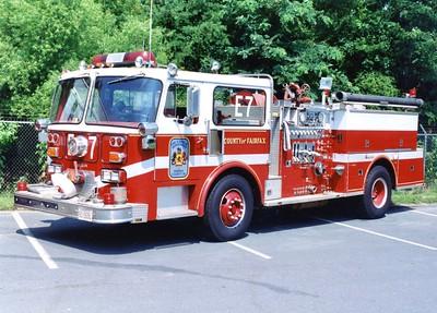 Former Engine 7, a 1980 Seagrave HB, 1000/500, Shop #7056.