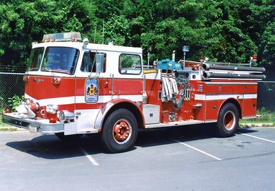 Former Training Engine, a 1975 Seagrave, 1000/500, Shop #7006.