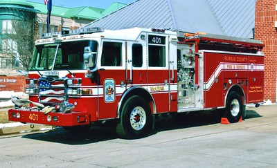 Former Engine 401, a 2007 Pierce Dash, 1250/750/40, sn- 17764-04, Shop #7558.  ex - Engine 407 (Training Academy).  To Station 1 in 2009.