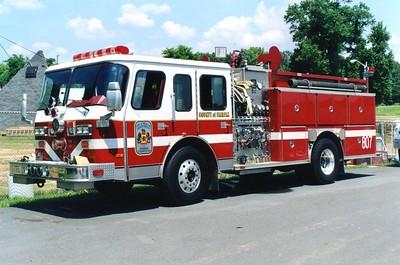 Former Engine 807, a 1989 E-One Hush, 1250/500, Shop #7216.  ex - Engine 436.
