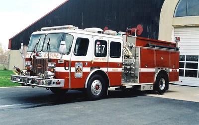 Former Rescue Engine 7, a 1995 E-One Protector, 1250/750, Shop #7100.  ex - Rescue Engine 425 (Reston).