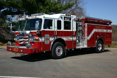 Former Engine 407, a 2007 Pierce Dash 1500/750/40.