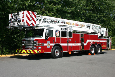 Tower 436 from Frying Pan is this sharp 2011 Pierce Velocity, 100', sn-23929, County #7431.