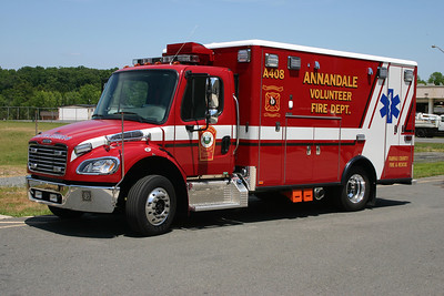 Annandale Ambulance 408 is a 2013 Freightliner/Horton taken at the Academy Shops.