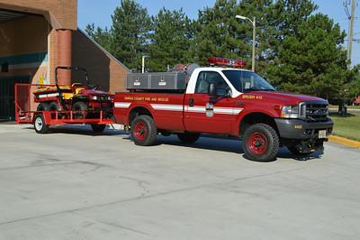 Brush 415 towing Gator 415.