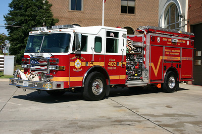 Fairfax City Foam Engine 403 is now a reserve unit, a 2007 Pierce Dash, 2000/625/300.