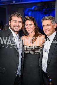 Garrett O'Shea, Kelly Shooshan, Steve Senkus, 21st Annual Knock Out Abuse Gala, Ritz Carlton, November 13, 2014, photo by Ben Droz,