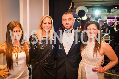 Gabriella Bender, Lauren Grunley, Roy Abdo, Jena Belinkie , 21st Annual Knock Out Abuse Gala, Ritz Carlton, November 13, 2014, photo by Ben Droz,