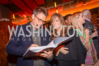 "Tim Daly and Robin Bronk, Creative Coalition, ""Art of Discovery"" Book Party, October 28th, 2014, Cities Restaurant, photo by Ben Droz."