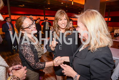 "Kathy Roth-Douquet, Robin Bronk, Creative Coalition, ""Art of Discovery"" Book Party, October 28th, 2014, Cities Restaurant, photo by Ben Droz."