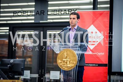 Logan Soya, DC Tech Meetup, Digital DC Tech Fund Edition, Digital DC, MLK Library, 10-6, 2014, photo by Ben Droz
