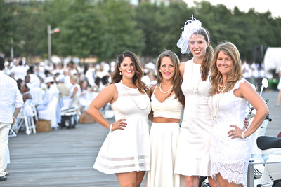 Arianna Barcham, Danielle Angel, Stephanie Greene, Rachael Beitler, The global phenomenon secret dinner party, Diner en Blanc, attracted over 1,300 guests all wearing white.  The Yards Park, Thursday, September 4, 2014.  Photo by Ben Droz