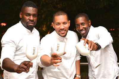 Vann Ashe, Patrick Richards, Donde Burston, The global phenomenon secret dinner party, Diner en Blanc, attracted over 1,300 guests all wearing white.  The Yards Park, Thursday, September 4, 2014.  Photo by Ben Droz