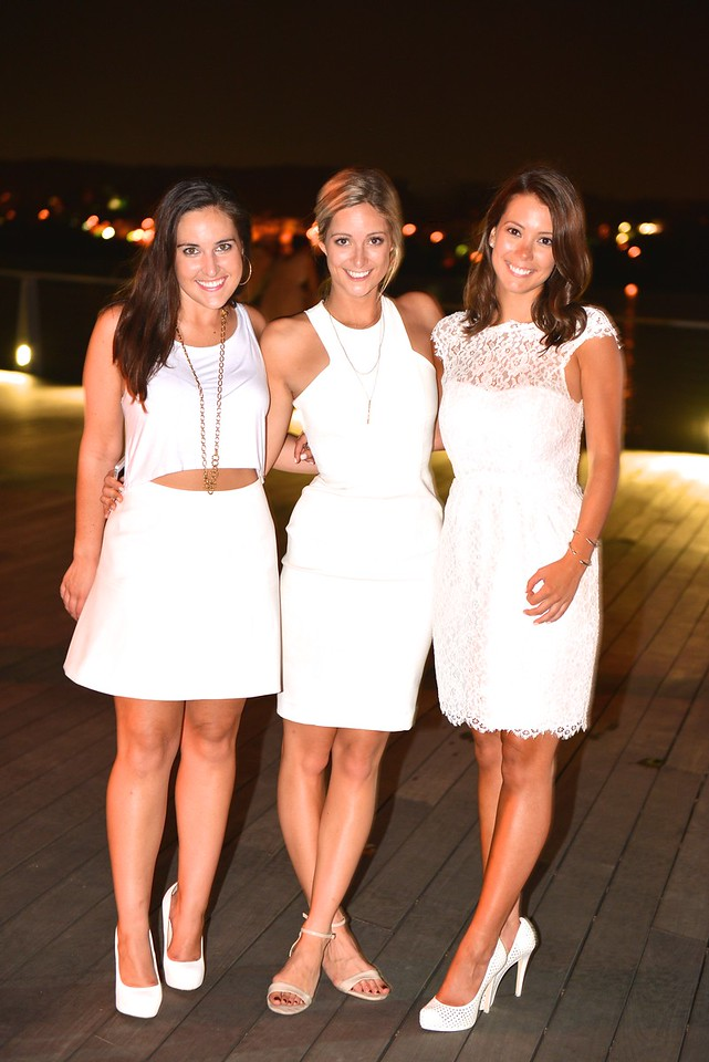 Courtney Ginty, Austin Kaytes, Leah Nacleau, The global phenomenon secret dinner party, Diner en Blanc, attracted over 1,300 guests all wearing white.  The Yards Park, Thursday, September 4, 2014.  Photo by Ben Droz