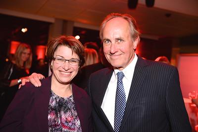 Senator Amy Klobuchar, Chris Isham, Face The Nation, 60th Anniversary, Newseum, November 17, 2014, Photo by Ben Droz.