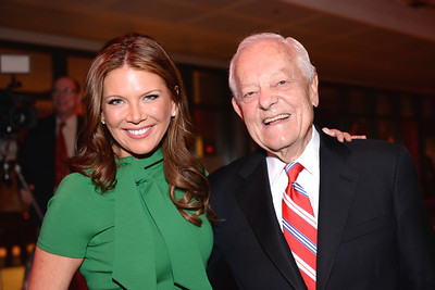 Trish Regan, Bob Schieffer, Face The Nation, 60th Anniversary, Newseum, November 17, 2014, Photo by Ben Droz.