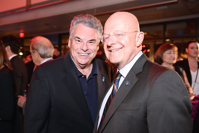 Rep Peter King, James Clapper, Face The Nation, 60th Anniversary, Newseum, November 17, 2014, Photo by Ben Droz.