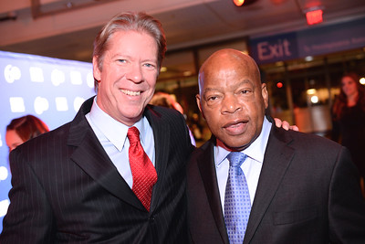 Major Garrett, Rep. John Lewis, Face The Nation, 60th Anniversary, Newseum, November 17, 2014, Photo by Ben Droz.