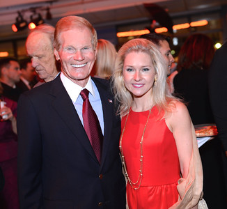 Senator Bill Nelson, Nan Ellen Nelson, Face The Nation, 60th Anniversary, Newseum, November 17, 2014, Photo by Ben Droz.