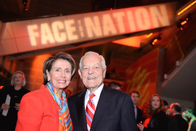 Congresswoman Nancy Pelosi, Bob Schieffer,  Face The Nation, 60th Anniversary, Newseum, November 17, 2014, Photo by Ben Droz.