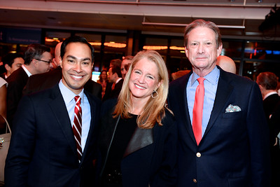 Julian Castro, Amy Barbee, Bill Ikard,Face The Nation, 60th Anniversary, Newseum, November 17, 2014, Photo by Ben Droz.