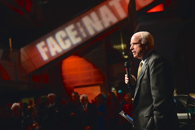 Senator John McCain, Face The Nation, 60th Anniversary, Newseum, November 17, 2014, Photo by Ben Droz.