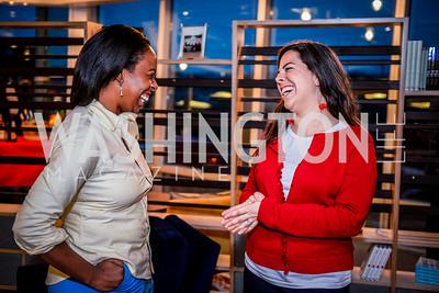 Kia Kinsler, Kaila Ramsey, Teach for America Reception, 10-7-2014, Photo by Ben Droz