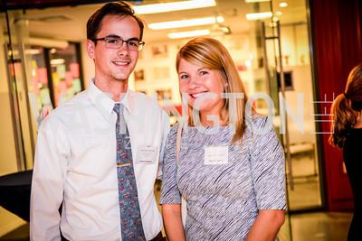 Jonathan Nichols, Jenelle Petersen, Teach for America Reception, 10-7-2014, Photo by Ben Droz