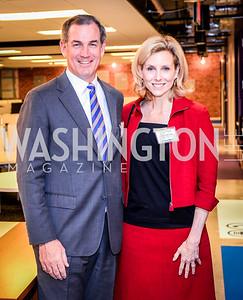 Greg O'Brien, Katherine Bradley, Teach for America Reception, 10-7-2014, Photo by Ben Droz