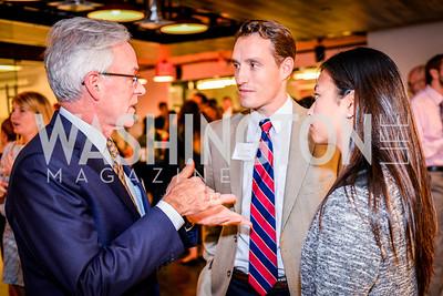 Christopher Ritzert, Hunter Gros, Jenny Nakamura, Teach for America Reception, 10-7-2014, Photo by Ben Droz