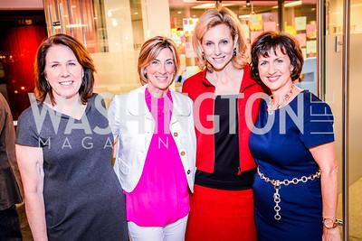 Joey Sloter, Page Dekker, Katherine Bradley, Jeanne Allen, Teach for America Reception, 10-7-2014, Photo by Ben Droz