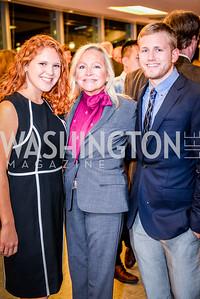 Elena Acuna, Deborah Sigmund, Matthew Robinson, Teach for America Reception, 10-7-2014, Photo by Ben Droz